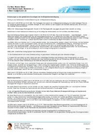 Ausgabe Vorfälligkeitsentschädigung Seite 3 - Farbschema Allgemein blau - Ausgabe mit Modul Beratung
