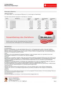 Tilgungsplan Seite 2 - Farbschema Sparkasse - Ausgabe mit Modul Beratung