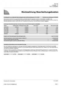Beispiel Rückzahlung von Bearbeitungskosten