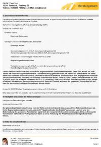ESIS Beispiel Annuitätendarlehen, Seite 2