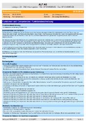 Auszug aus der Stellenbeschreibung: Aufgaben aus F & C