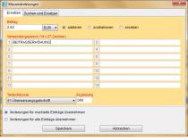DTAUS-Datei Massenänderungen